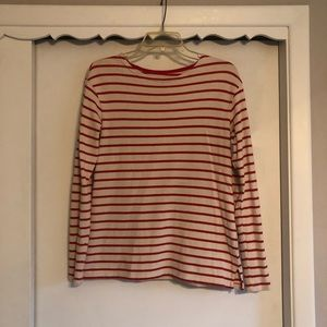 Red and Tan Stripped Top